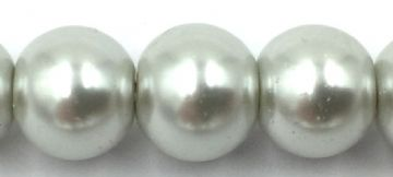62 Silver Grey - glass pearls beads all sizes